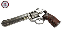 G&G G733 Swing Out DA CO2 Revolver (Silver Frame, Brown Grip)