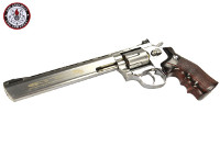 G&G G734 Swing Out DA CO2 Revolver (Silver Frame, Brown Grip)