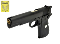 Golden Eagle 1911 GBB Pistol with Twill Texture Grip (Black)