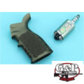 G&P M4/M16 AEG Waffle Heat Sink Grip Devil Jet Kit (Sand)
