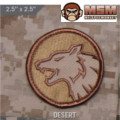 MSM Wolf Head Patch - Desert