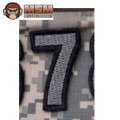 MSM Tac-Number 7 Patch - ACU Dark