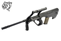Snow Wolf Steyr AUG A1 AEG Bullpup Rifle (Black)