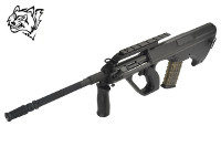 Snow Wolf Steyr AUG A2 AEG Bullpup Rifle (Black)