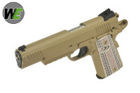 WE USMC M45A1 GBB CQB Pistol (Dark Earth)
