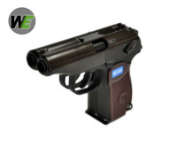 WE Double Barrel MAKAROV GBB Pistol (Black)