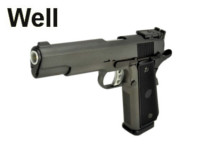 Well Metal Slide 1911 Hi-Capa 5.1 GBB Pistol (G191 , Black)