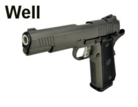 Well Metal Slide 1911 Hi-Capa 5.1 GBB Pistol (G192 , Black)