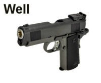 Well Metal Slide 1911 Hi-Capa 4.3 GBB Pistol (G193 , Black)