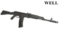 WELL AK-74M Full Travel Bolt 134A/Green Gas GBB Rifle (Black)