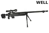 WELL MB4415D Spring Bolt Action Sniper Rifle (Scope & Bipod, BK)