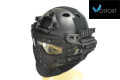 WOSport G4 System PJ Fast Helmet With Steel Mask (Black)