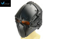 "WOSport ""Obsidian"" Tactical Fan Helmet (Black, Orange Lens)"