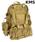 KMS 50L MOLLE Military Tactical Bckpack (Tan)