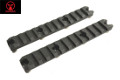 AMOEBA 5 Inch 11 Slots 20mm Rail For M-LOK Handguard (2pcs, BK)