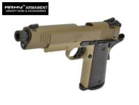 ARMY Kimber M1911A1(R28-2) GBB Pistol (Black barrel,Tan Frame)