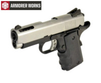 Armorer works Compact 1911 GBB Pistol (Silver)