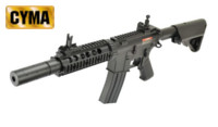 CYMA M4 AEG Rifle with Dummy silencer (Black ,CM513)