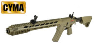 CYMA M-Lok Handguard M4 AEG Rifle with 556K Flashider(Tan,CM518)