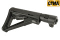 CYMA CTR Stock & 6 Positions Folding Tube For AK-74 AEG (BK)