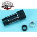 G&P Large type 14mm CW/CCW 3 Prong Flash Hider (Black)