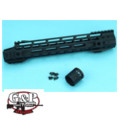 G&P 12.5 inch Upper Cut M-Lok Handguard for M4 AEG/GBB (BK)