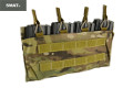 SWAT CORDURA Single Stack Quadruple 556 Magazine Pouch (MC)