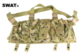 SWAT Cordura Nylon AK Front Chest Pouches Vest (Multicam)