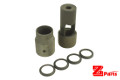 ZParts CNC Steel Muzzle Brake Kit For MK12 GBBR (BK, 14mm CCW)