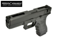 ARMY R18C Full-Auto GBB Pistol (Black, No Marking Version)
