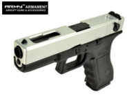 ARMY G18C Full-Auto GBB Pistol (Silver , No Marking Version)