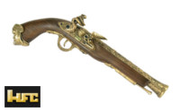 HFC 18th Century Pirate Co2 6mm Flintlock Pistol (Gold)