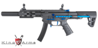 King Arms PDW 9mm AEG SBR SD (Blue/Black)- Special Edition