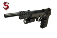LS M9 GBB Pistol with Tactical Flashlight (Black)