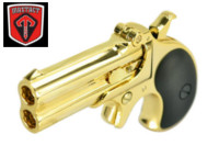 Maxtact Alloy American Derringer Double Barrel Gas Pistol (Gold)