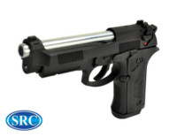 SRC Alloy SR92 ELITE IA M92 GBB Pistol (Black and Silver)