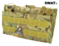 SWAT Cordura Molle Open top Triple 7.62 Mag Pouch (Multicam)