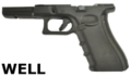 WELL G17 Gen4 GBB Pistol Frame Set (Black)