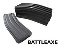 BATTLEAXE 450rd HI-CAP METAL Magazine for M4/M16 AEG (5pcs;BK)