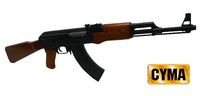 CYMA AK47 Airsoft Wood parts BLOWBACK AEG (CM-046)