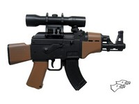 Double Eagle AK47 Mini-Shot Electric Airsoft Gun (M95B; WOOD)
