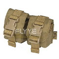 FLYYE  Double Fragmention Grenade Pouch(Khaki)