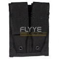 FLYYE MOLLE Double 9mm Mag Pouch(Black)