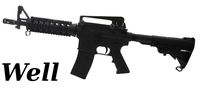 WELL M4 RIS CQB Gas Blowback Rifle