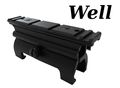 WELL MP5 Series High Profile Claw Mount Base with Side Rail