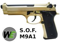 WE S.O.F. M9A1 Full Metal GBB Pistol (GOLD)