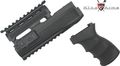 King Arms AK47S Railed Handguard and Grip v2-Bk
