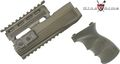 King Arms AK47S Railed Handguard and Grip v2-OD