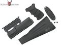 King Arms  AK74 Railed handguard / Grip / Stock - BK
