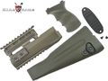 King Arms  AK74 Railed handguard / Grip / Stock - OD